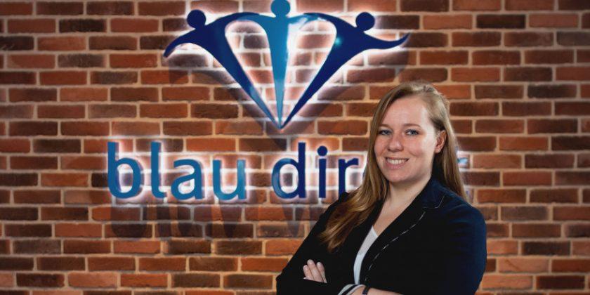 """Dana Poppinga (Blau Direkt): In fünf Jahren von der Auszubildenden an die """"Spitze des Unternehmens"""""""