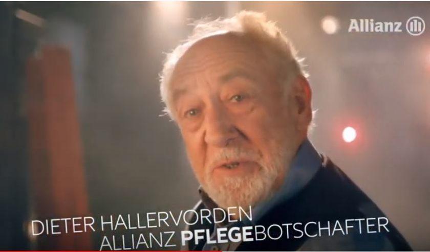 """""""Nüchterner als du denkst"""": Allianz erneuert Pflegekampagne mit Dieter Hallervorden"""