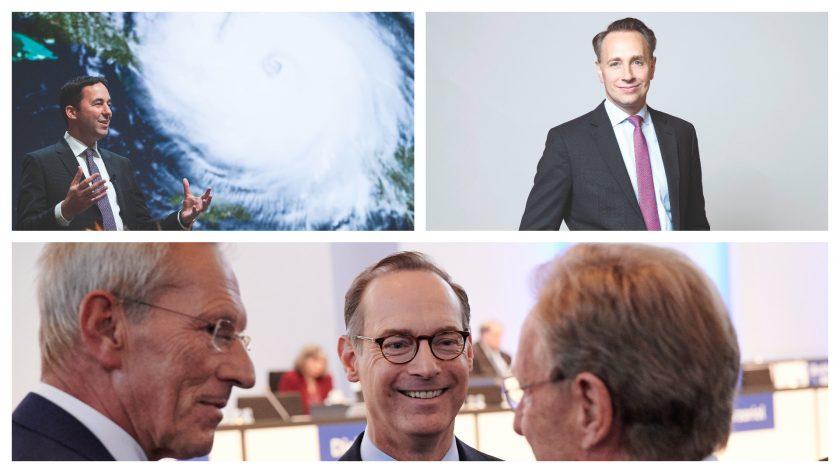Mumenthaler, Bäte, Buberl im Fokus: Wie zufrieden sind Swiss Re, Axa und Allianz mit ihren Chefs?