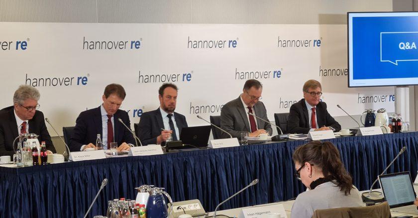 Hannover Rück schreibt Rekordgewinn trotz hoher Schadenbelastung