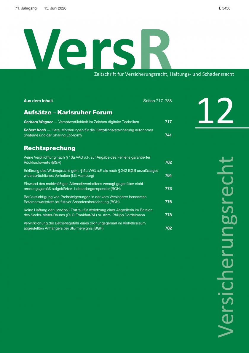 """Karlsruher Forum: """"Verantwortlichkeit im Zeichen digitaler Techniken"""""""