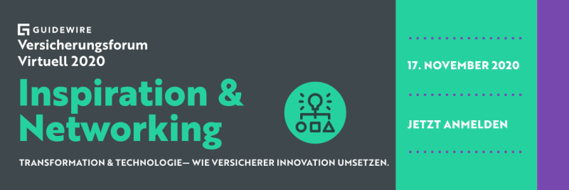 Guidewire Versicherungsforum Virtuell 2020 – Vorträge, Demos und Networking