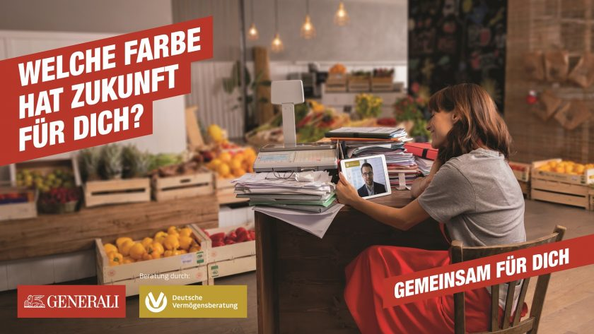 """Alles auf rot: Generali lässt """"Reditude""""-Kampagne fliegen"""