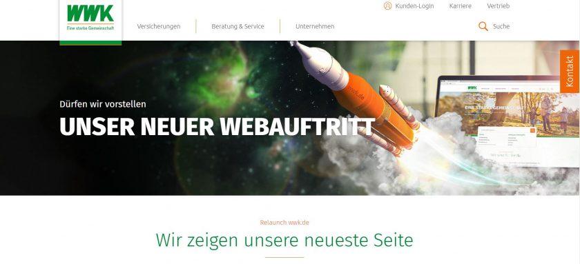 Website-Relaunch: WWK hofft auf unmittelbaren Beitrag zum Geschäftserfolg