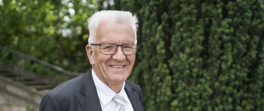 """Winfried Kretschmann: """"Wir Grüne liegen schon lange und stabil auf den vorderen Plätzen, dann sollten wir jetzt auch auf Sieg spielen"""""""